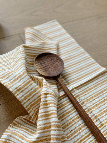 Four Leaf Wood Shop The Table for Two Bundle - Sunset Goldenrod Napkins