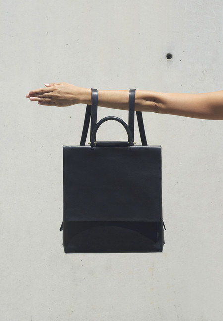 Building Block Rucksack in Black