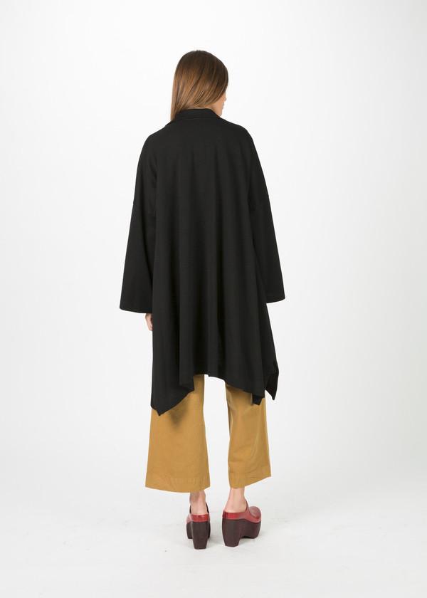 Nocturne #22 Draped Knit Wool Coat