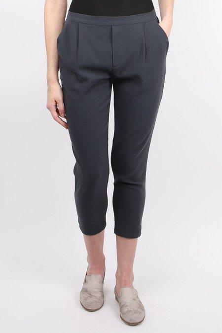 Evam Eva Cotton Double Cloth Tuck Pants - Stone Grey