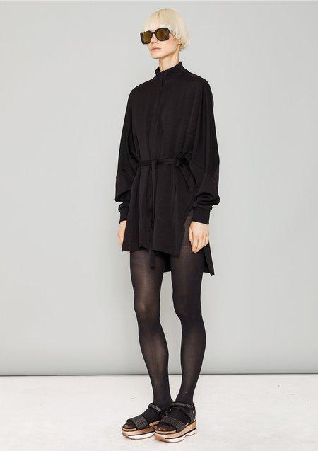 Berenik HEAVY DRAPING JACKET DRESS - black