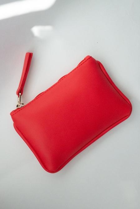 Hozen Vegan Leather Card Pouch - Rouge