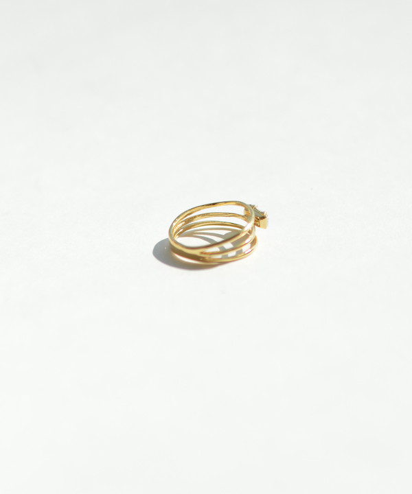 Bing Bang NYC Bing Bang Gold Stacked Baguette Ring