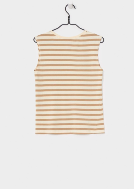 KOWTOW BUILDING BLOCK TANK TOP - TAN NATURAL STRIPE