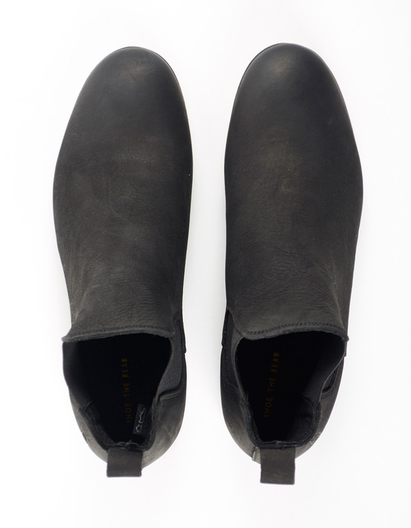 Shoe The Bear Nubuck Chelsea Boot Black