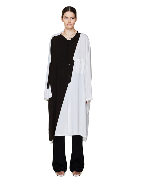 Yohji Yamamoto Viscose Printed Shirt - White