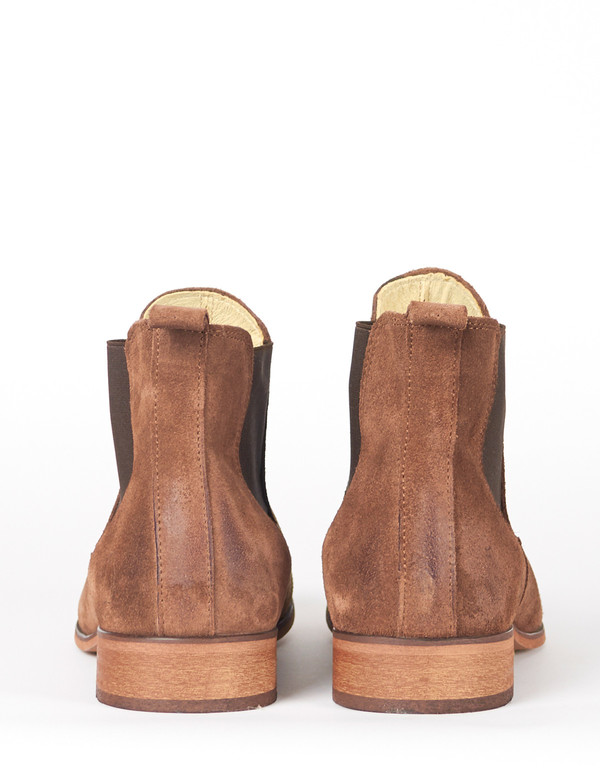 Shoe The Bear Suede Chelsea Boot Taupe