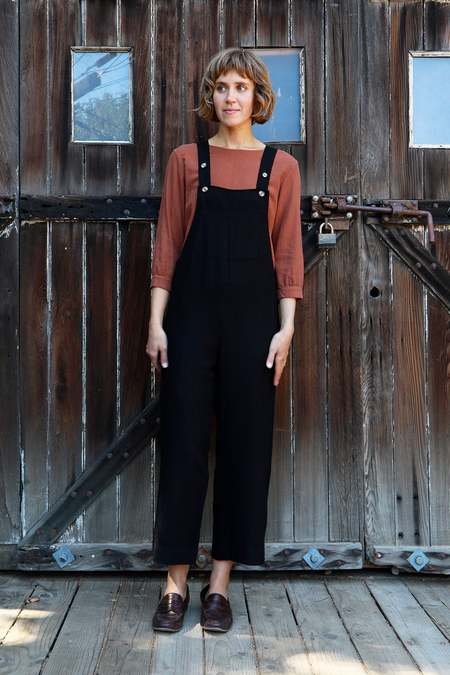 Me & Arrow Overall - Black Linen