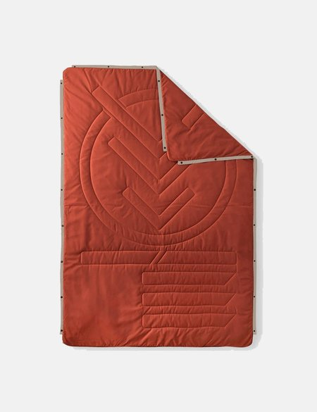 Voited Recycled Ripstop Outdoor Pillow Blanket - Langoustino