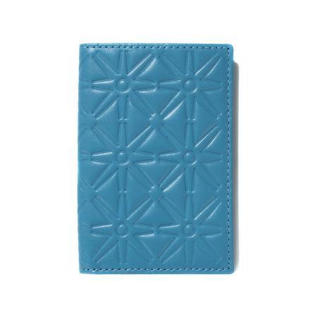 Comme des Garçons Embossed Leather Wallet - Blue