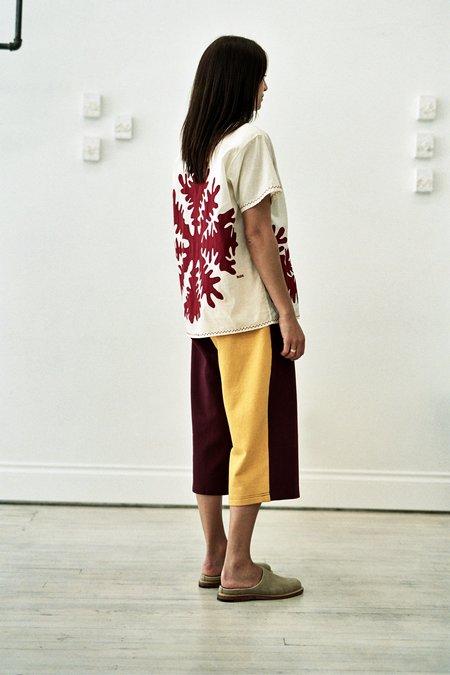 BODE Bi-Colour Cotton Jogging Pant - Burgundy