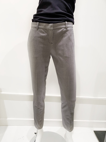 CIRCOLO 1901 herringbone stretch cotton ankle pants