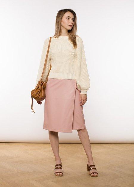 ÁERON Brenda Wrap Pencil Skirt - Rose