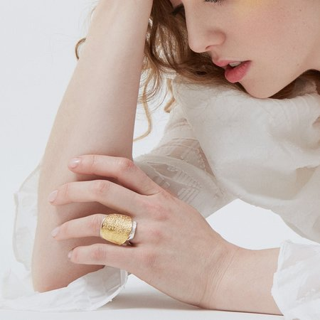 Isabelle Kapsaskis Acera Adjustable Ring - Gold Plated/Silver