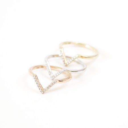 Boudov Designs Chevron Pavé Diamond Ring
