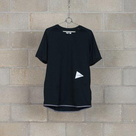and wander Dry Jersey Raglan Short Sleeve T-Shirt - Black