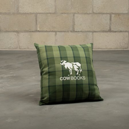 COW BOOKS Reading Cushion - Green Check