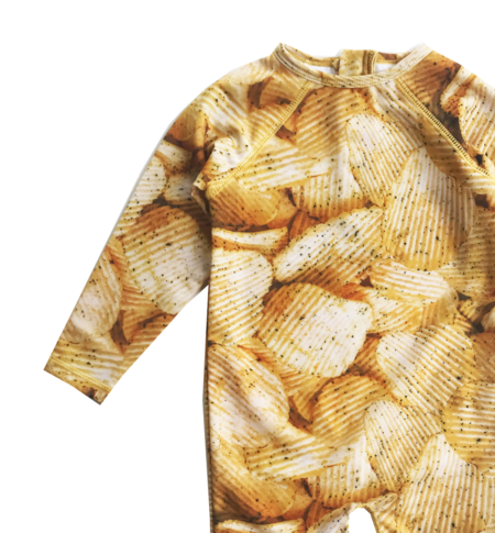 Kids Romey Loves Lulu Potato Chips Rash Guard