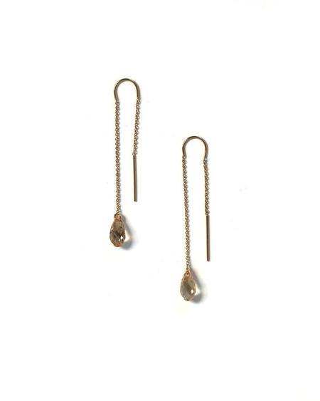 Jennifer Tuton Loop Thru Crystal Earrings - 14K Goldfill