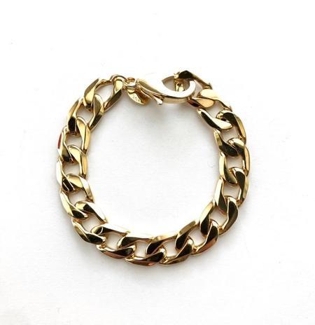Jennifer Tuton Rocker Bracelet - 24K Gold Overlay