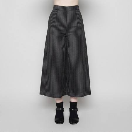 7115 by Szeki Wide-Legged Cropped Trouser- Stripe FW16