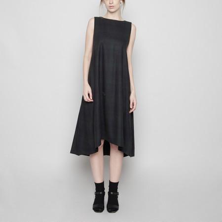 7115 by Szeki Wool Tent Dress - Faded Stripe FW16