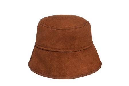 Clyde Shearling Bucket Hat - Rust Silver Tip