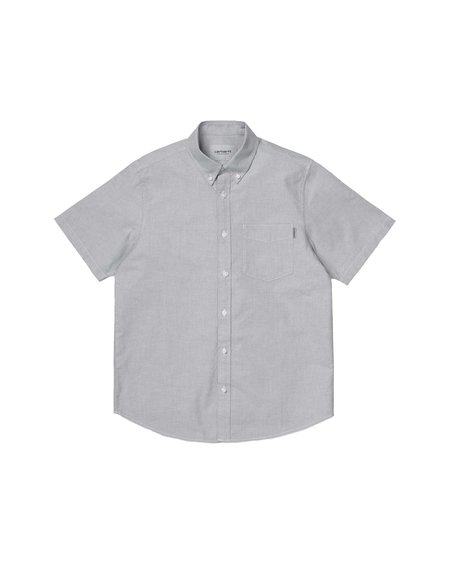 Carhartt Wip Camisa SS Button Down Pocket - Shiver