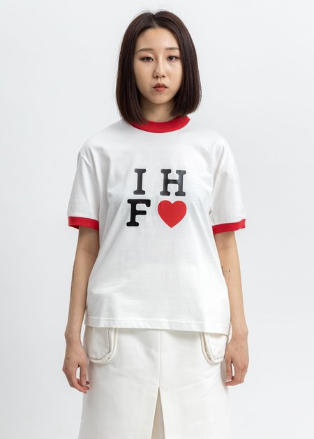 Sunnei IHF Logo Hem T-Shirt - White