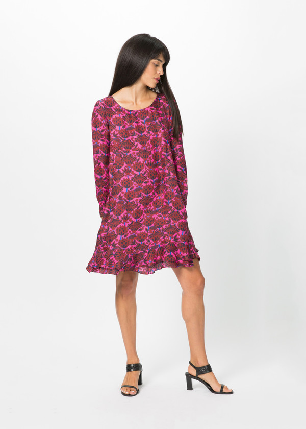 Odeeh Ruffle Hem A-Line Dress