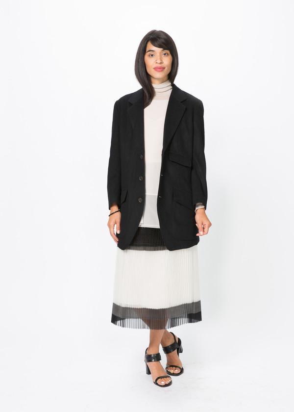 Nocturne #22 Three Button Wool Coat