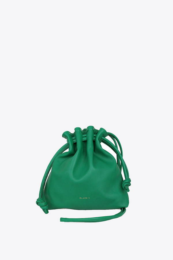 Clare V. Petit Henri Maison in emerald nappa
