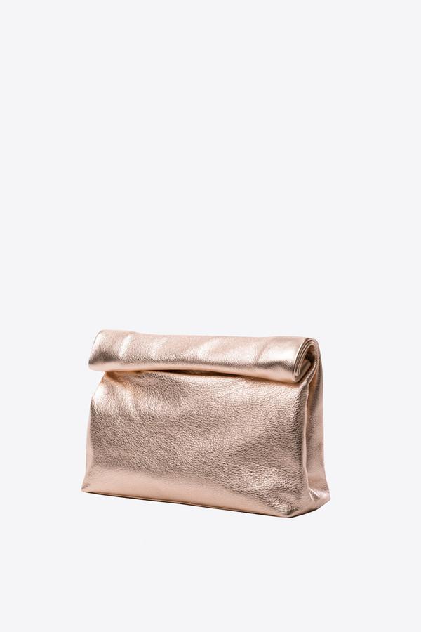 Marie Turnor Snak clutch in rose gold