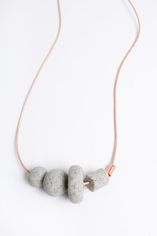 Pepper Train The Everyday Mono Necklace in stone