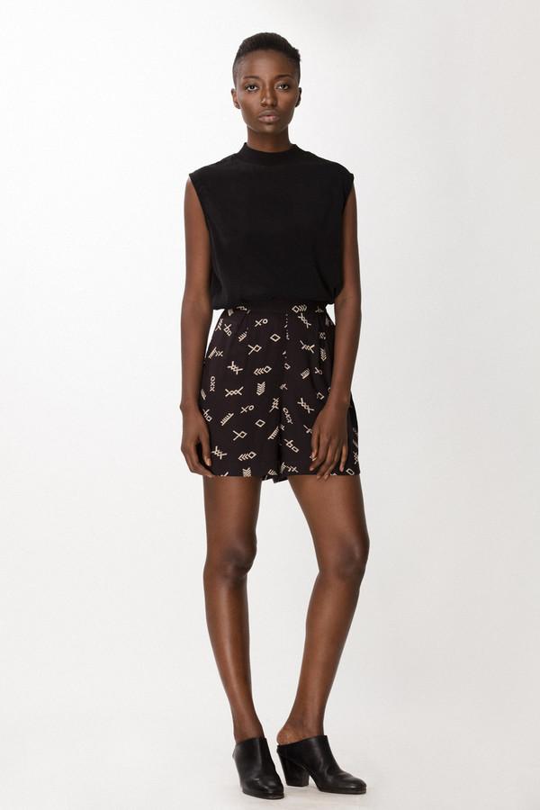 Osei-Duro Lorem Shorts in Black Jot