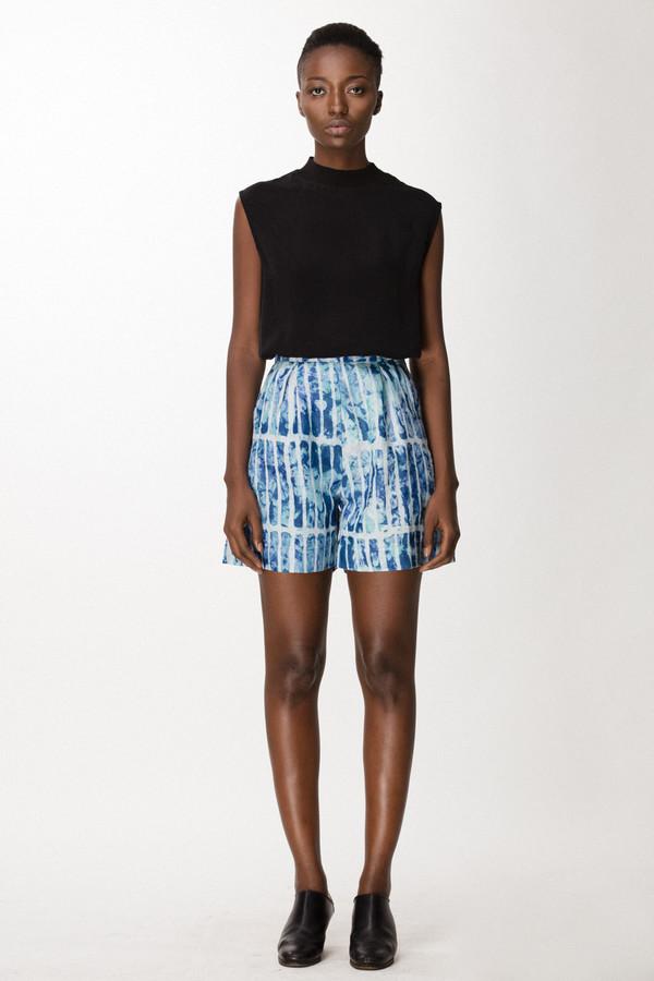Osei-Duro Lorem Shorts in Marine Chalk