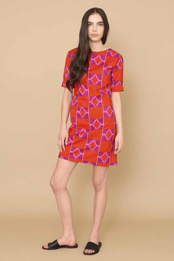 Osei-Duro Muto Dress in Hibiscus