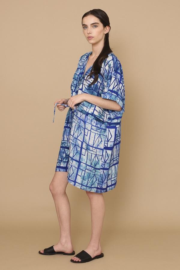 Osei-Duro Toss Kimono in Waterbolt