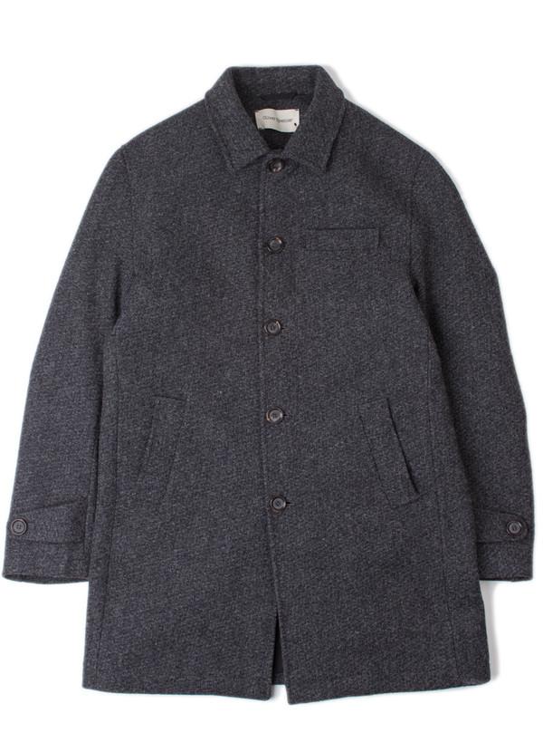 Men's Oliver Spencer Grandpa Coat Barrow Charcoal
