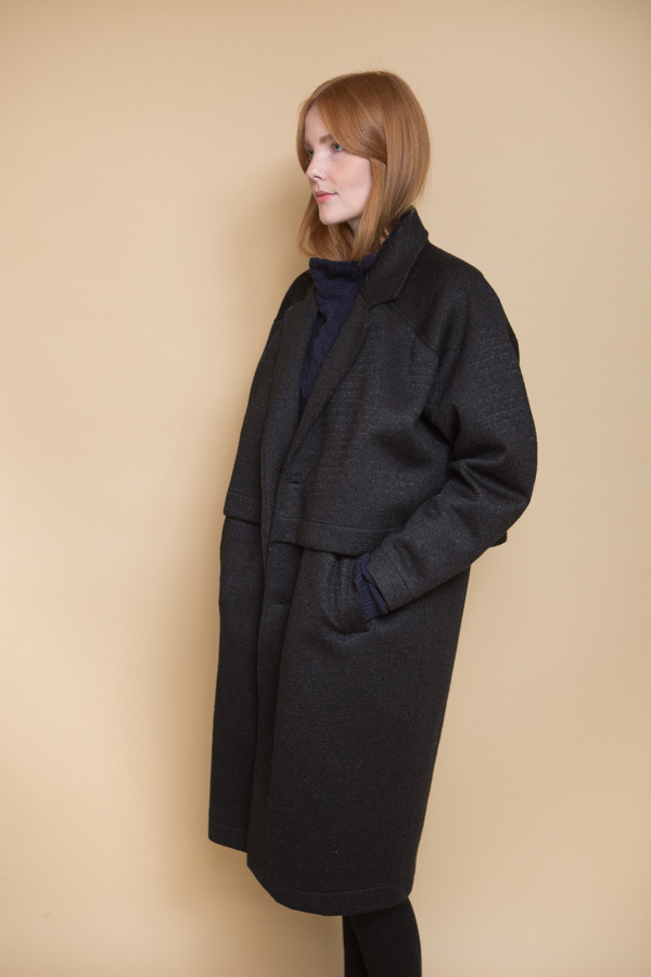 Reality Studio Roger Coat - Black