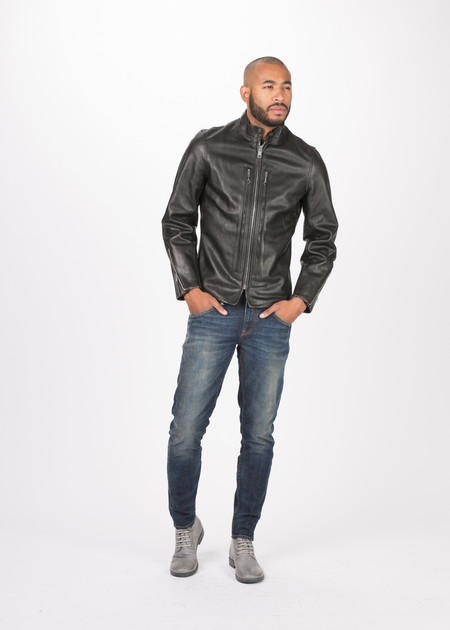 R13 Cafe Racer Leather Jacket