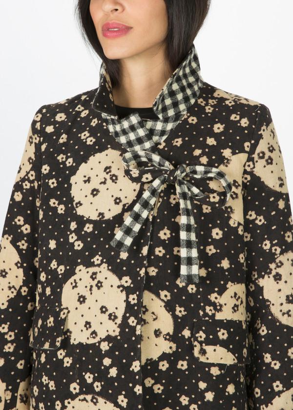 Pero Poppy and Gingham Reversible Coat