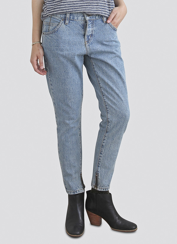 Objects Without Meaning - Boy Zip Jeans in Acid Blues