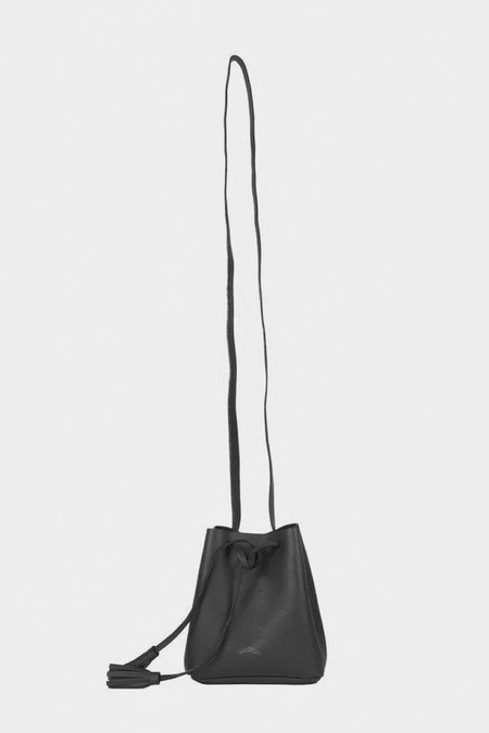 Shaffer Leather Greta Bucket Bag - Black