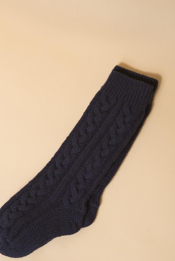 Reality Studio Cable Socks - Navy