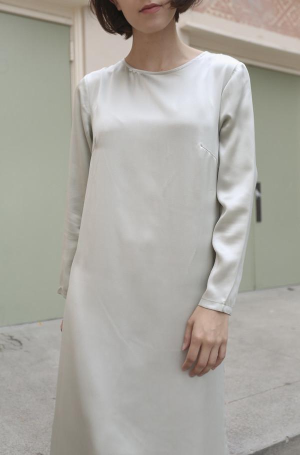Baserange Azour Dress in Dusty Blue