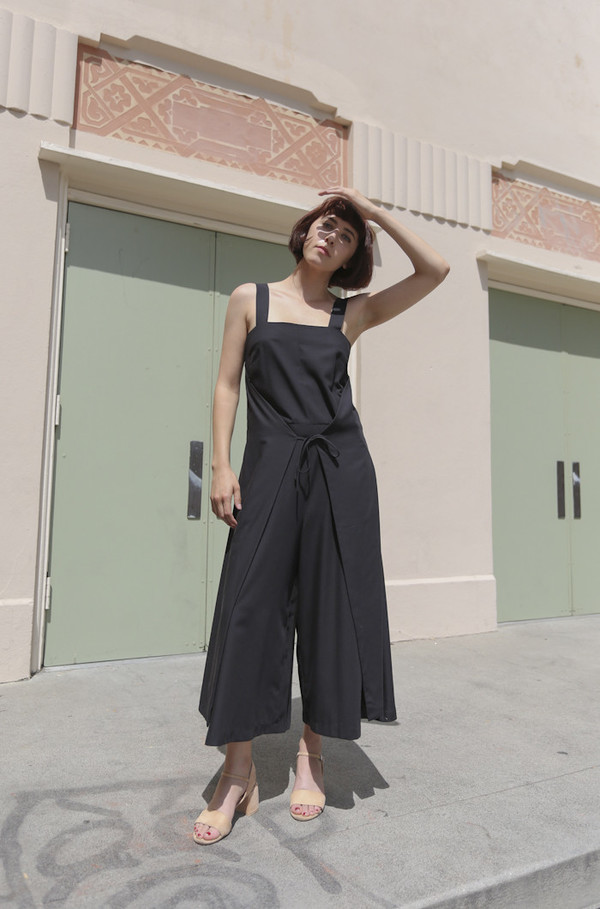 Wolcott : Takemoto Carol Jumpsuit in Black
