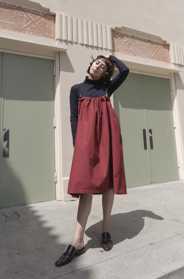 Delfina Balda Bruna Dress in Rust Red
