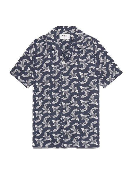 Wax London Didcot S/S Shirt - Pisces Print