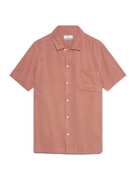 Wax London Fazely S/S Shirt - Redwood